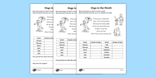 in the month differentiated activity sheet pack worksheet