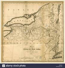 Maps Of New York State by Map Of The State Of New York 1823 19th Century Engraving Us