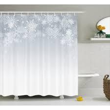 gray silver shower curtains you ll wayfair