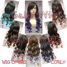 jual hair clip wig ombre curly revo jual hairclip wig