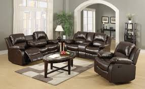 living room reclining sofa with drop down table bonded leather