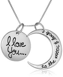you necklace images Sterling silver quot i love you to the moon and back jpg