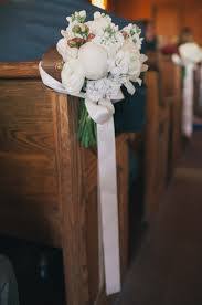 Wedding Pew Decorations Church Wedding Decorations Ideas Pews
