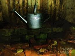 Old Fire Pit - the old firepit painting by rc dewinter