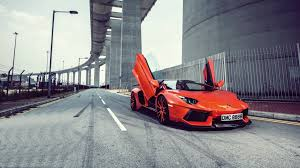 red orange cars bridges cars italian lamborghini aventador limited edition lp700 4