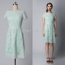 mint lace dress knee length naf dresses