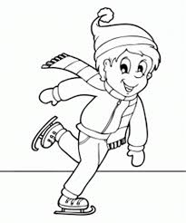 ice skating winter coloring pages for kids winter coloring pages