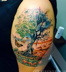 scenery arm tattoo by acostattoo houston tx inked 4 life