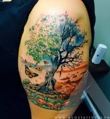scenery arm tattoo by acostattoo houston tx inked 4 life