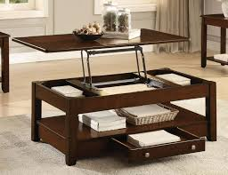 homelegance ballwin cocktail table with lift top and functional
