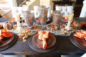 Dining Room Table Setting Dishes Fall Dining Room Table Kevin Amanda Food Travel