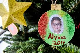 decoupage photo ornaments unfolded