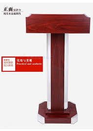 Reception Station Desk by Solid Wood Podium Speech Front Desk Welcome Taiwan Hotel Reception