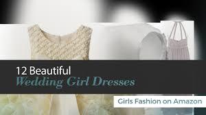 amazon com 4 75 carats 12 beautiful wedding dresses girls fashion on amazon youtube