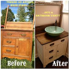 Bathroom Vanity Chest by Diy Turning An Antique Wash Stand Into A Bathroom Vanity Wash