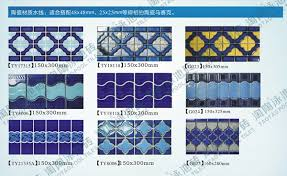 Tile For Swimming Pool Blue Decorative Waterline Border Buy Tile