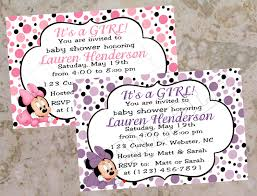 baby shower invitations minnie mouse baby shower invitations very