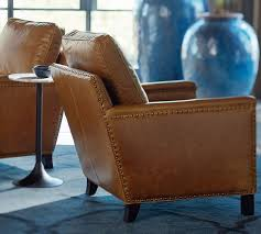 Cleaning Leather Chairs Tyler Leather Armchair Pottery Barn