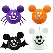 mickey mouse halloween ornament ghost bat pumpkin spider
