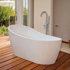 woodbridge 67 u0027 u0027 modern freestanding bathtub with brushed nickel
