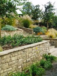 terrace garden design couryard water feature bamboo grass