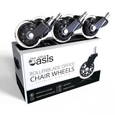 Wooden Office Chairs With Casters Amazon Com Office Chair Caster Wheels Set Of 5 Heavy Duty