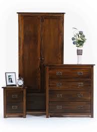 Boston Dark Pine  Door  Drawer Wardrobe Bedroom Furniture - Boston bedroom