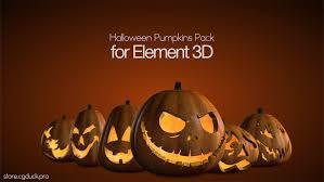 halloween pumpkins pack for element 3d on behance