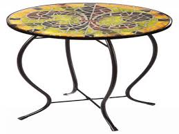 outdoor mosaic accent table mosaic accent table outdoor awesome fleur lis faux tile patio