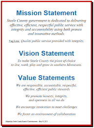 Business Intelligence Vision Statement Exles by Mission Vision Values Statements Employee Recognition