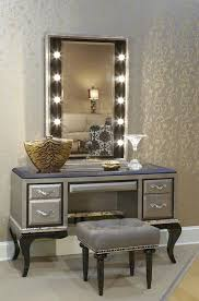 Vanity Table Vanity Table With Lighted Mirror And Bench Home Design
