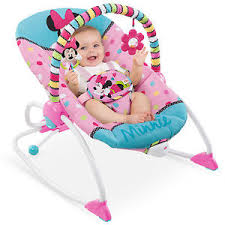 Recliner Chair For Child Baby Rocker Recliner Chair Infant Toddler Bouncer Minnie Mouse