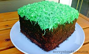 minecraft grass block cake tutorial merry about town