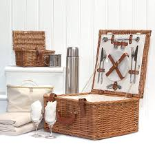picnic basket for 2 deluxe harpenden two person wicker picnic basket