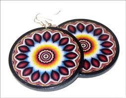 decoupage earrings earrings decoupage artesanum