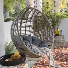 hanging egg chair black chairs outdoor double rattan wick