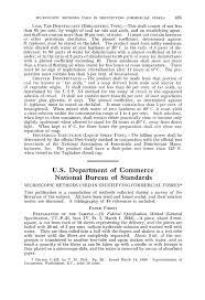 us bureau of standards u s department of commerce national bureau of standards