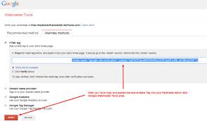 use google webmaster with your redframe site u2013 redframe help center