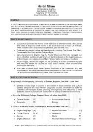 Great Resume Examples 11 Good Cv Examples For Students Musicre Sumed