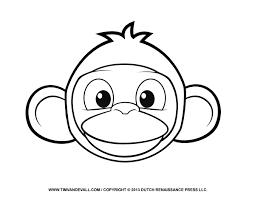 monkey clipart mask clipartxtras