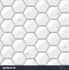 white tiles floor hexagons realistic seamless stock vector