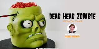 dead head zombie pinata cake tutorial corinna maguire