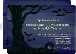 Gothic Halloween Wedding Party Invitation by Halloween Wedding Invitations U0026 Halloween Wedding Invites