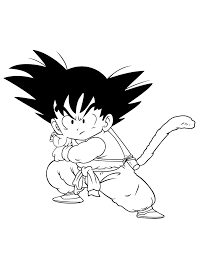 kid goku fireball dragon ball coloring u0026 coloring pages