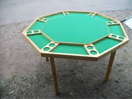 8 Person Maple Poker Table