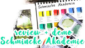 review u0026 demo schmincke akademie student watercolor paints youtube
