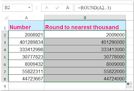 how to round numbers to nearest hundred thousand million in excel