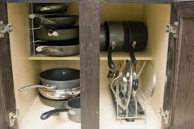 Kitchen Island Pot Rack by Pots Impressive Kitchen Cabinet Pot And Pan Storage Large Image