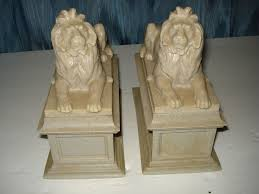 new york library bookends new york library lions bookends statue sculpture cast