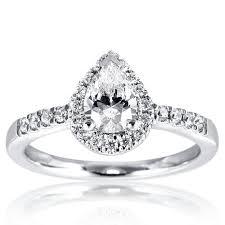 Pear Shaped Wedding Ring by Mazal Diamond Pear Shaped Halo Engagement Ring With Diamond